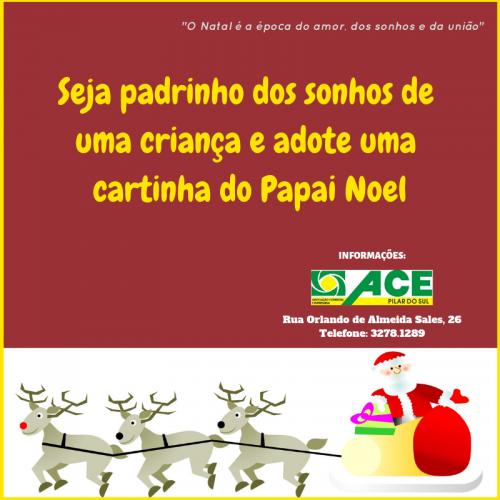 ACE PROMOVE ADOÇÃO DAS CARTINHAS DO PAPAI NOEL