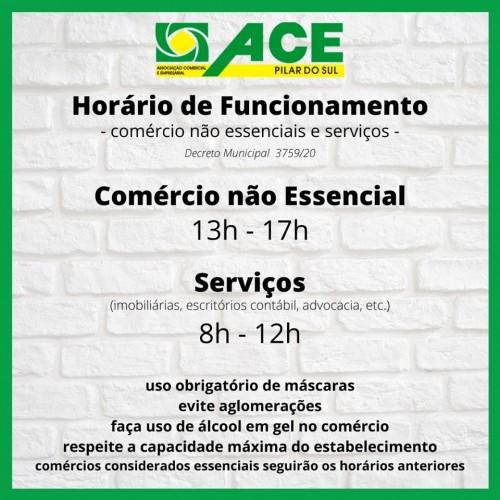 COMÉRCIO E SERVIÇOS TEM NOVO HORÁRIO DE FUNCIONAMENTO
