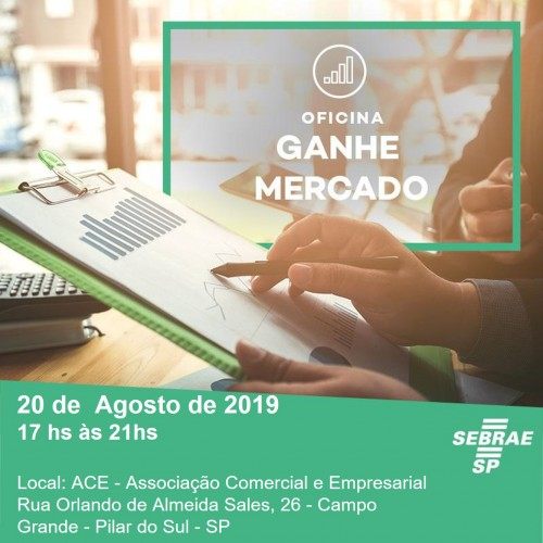 SEBRAE AQUI PROMOVE OFICINA 'GANHE MERCADO'